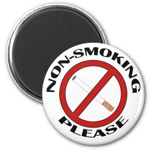 No fumador, por favor imán redondo 5 cm