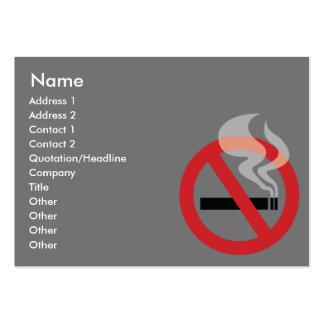 No fumador - rechoncho tarjetas de visita grandes