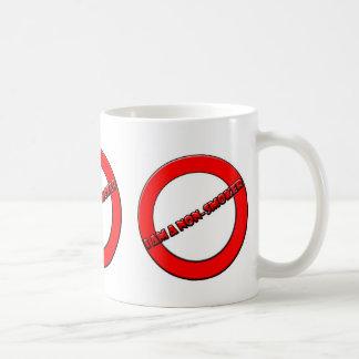 No fumador taza de café