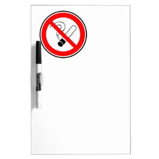 No fume pizarra blanca