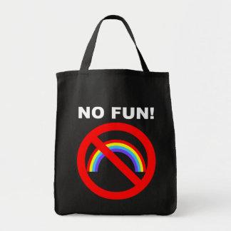 NO FUN CANVAS BAG