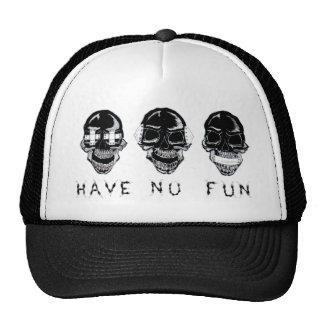 No Fun Black Transparent Trucker Hat