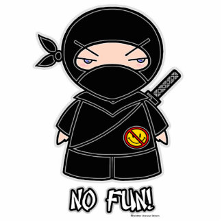 No Fun! Ninja Photo Sculpture
