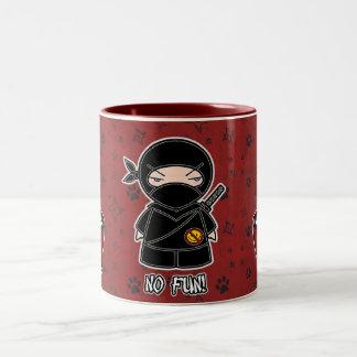 No Fun! Ninja With Rice Bowl Mug