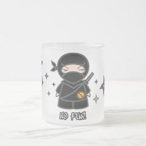 No Fun! Ninja With Shurikens Mug