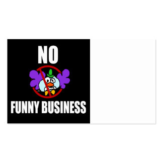 No Funny Business Business Card