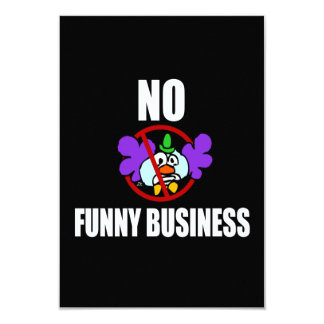 No Funny Business Card
