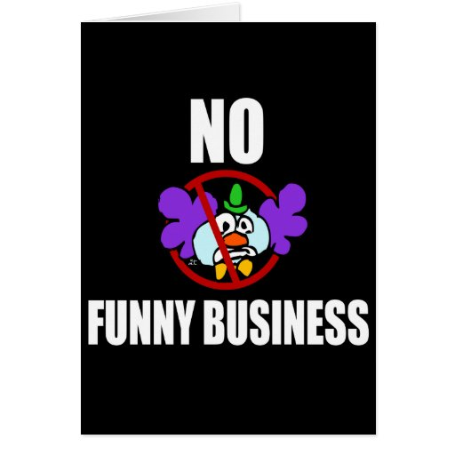 No funny business greeting card zazzle for Funny business christmas cards
