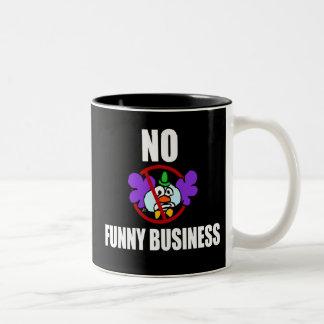 No Funny Business Two-Tone Coffee Mug