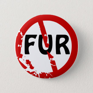 NO FUR! PINBACK BUTTON