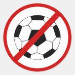 no-fútbol etiqueta redonda
