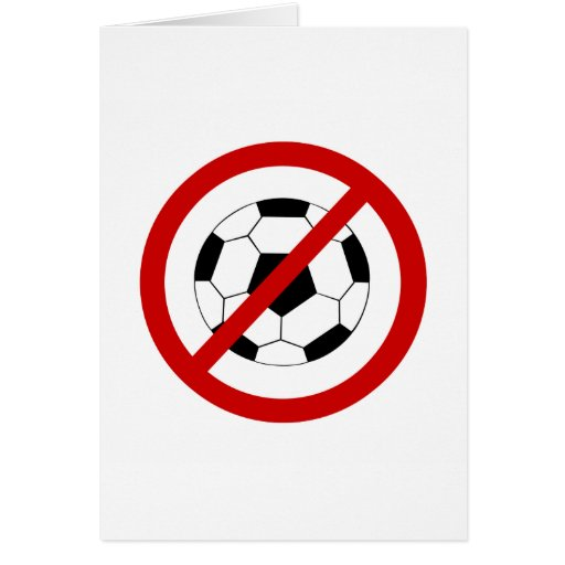 no-fútbol tarjeta