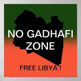 NO GADHAFI ZONE POSTER