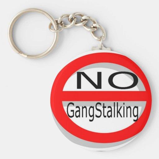 No Gangstalking Basic Round Button Keychain