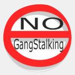 No Gangstalking Round Stickers