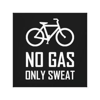 No Gas Bike Only Sweat Canvas Print