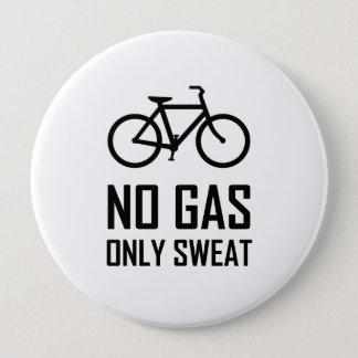 No Gas Bike Only Sweat Pinback Button