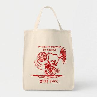 No Gas, No Pollution, No Calories Tote Bag