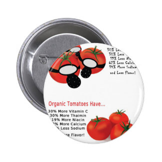 No Gassed Tomatoes 2 Inch Round Button