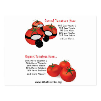 No Gassed Tomatoes Postcard