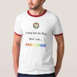 No gay, apenas FABULOSO (aliado del lgbt) Playera