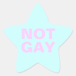 no gay pegatina en forma de estrella