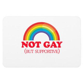 NO GAY, sino de apoyo Imán Foto Rectangular