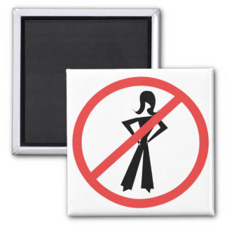 No Girls Allowed 2 Inch Square Magnet