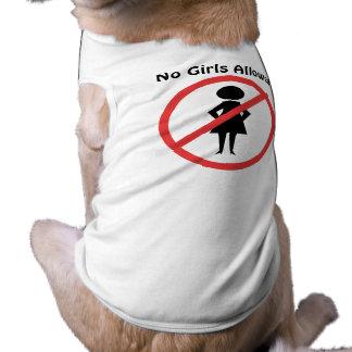 No Girls Allowed Dog Tee