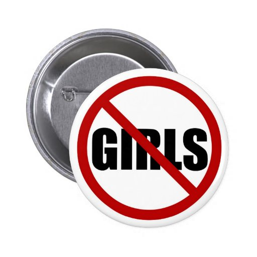 No Girls Allowed Icon Button