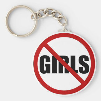 No Girls Allowed Icon Keychain