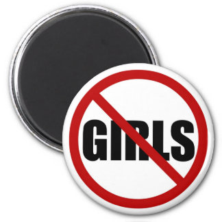 No Girls Allowed Icon Magnet