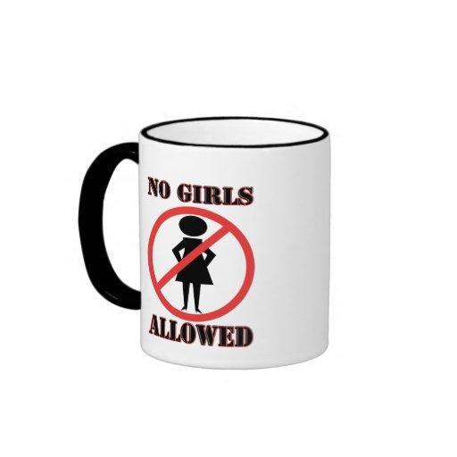 No Girls Allowed Ringer Coffee Mug