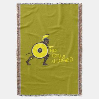 No Girls Allowed! Throw Blanket