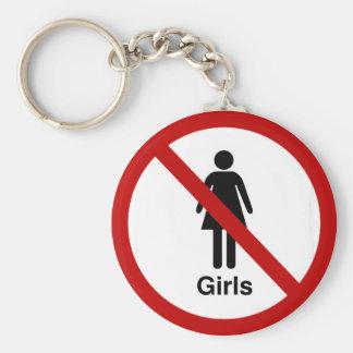 """""""No Girls"""" design Keychains"""