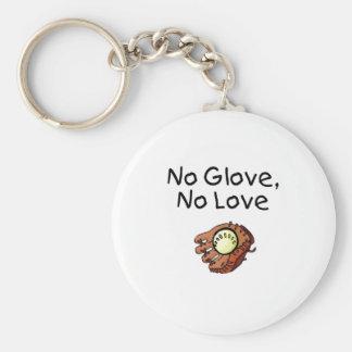 No Glove, No Love Basic Round Button Keychain
