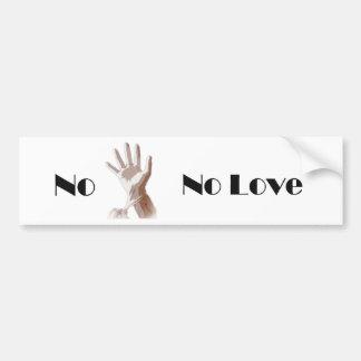No Glove No Love Bumper Sticker