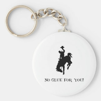 No Glue For You! Wild Crazy Horse & Rider Keychain