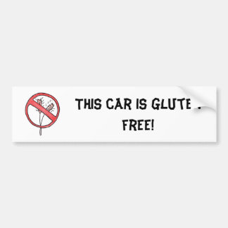 No gluten/Wheat Free! Car Bumper Sticker