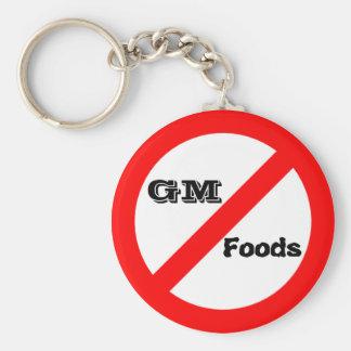 No GM -genetically modified foods keychaine Basic Round Button Keychain