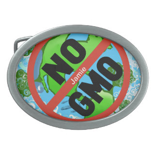 NO GMO BELT BUCKLE
