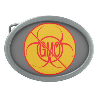 No GMO Belt Buckle Biohazard NO GMO Buckles
