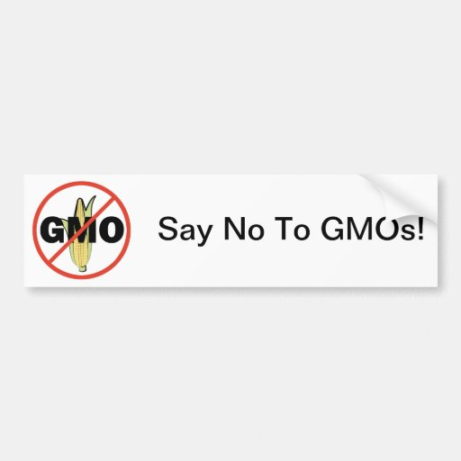 No GMO Car Bumper Sticker