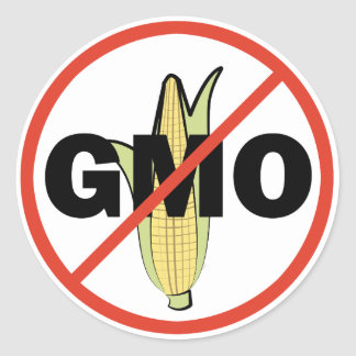 No GMO Classic Round Sticker