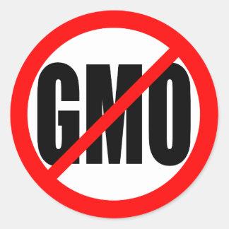 """""""NO GMO"""" CLASSIC ROUND STICKER"""