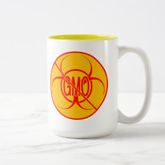 No GMO Coffee Mug Biohazard Warning GMO Cup Mugs