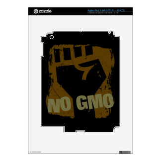 NO GMO Fist Decal For iPad 3