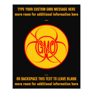No GMO Flyers Biohazard Personalized GMO Flyers