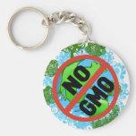 NO GMO KEY CHAINS