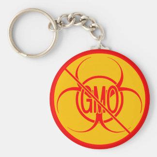 No GMO Keychain Biohazard Warning No GMO Key Chain